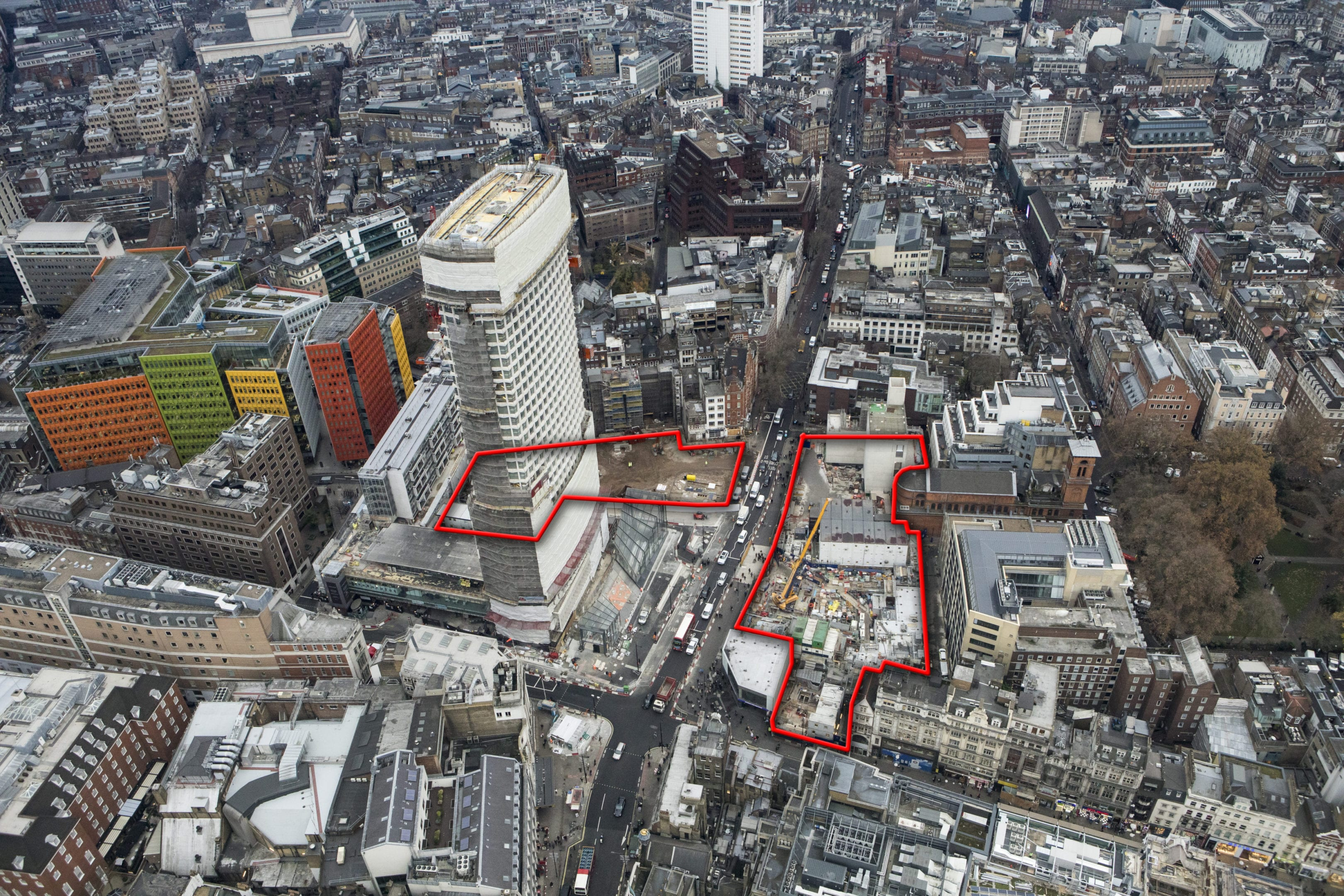 Image of Tottenham Court Rd Crossrail Project